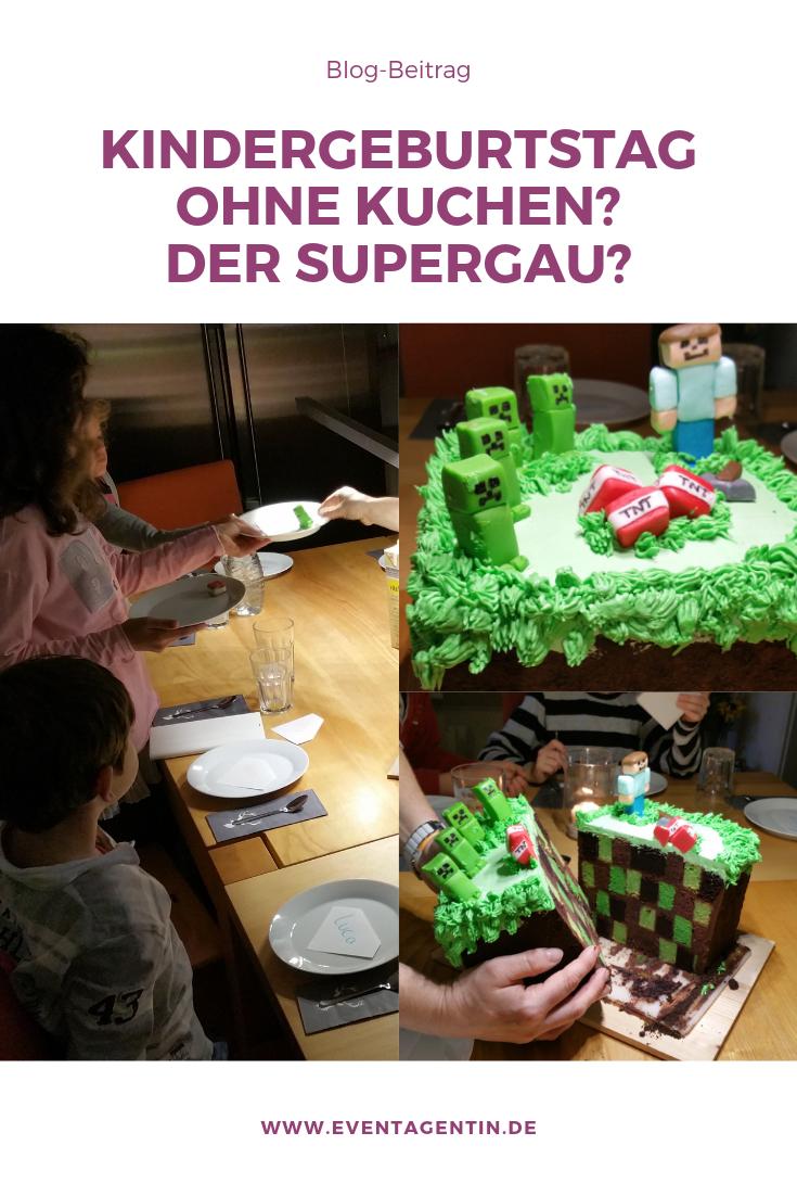 Auf Kuchen kann der Kindergeburtstag nicht verzichten