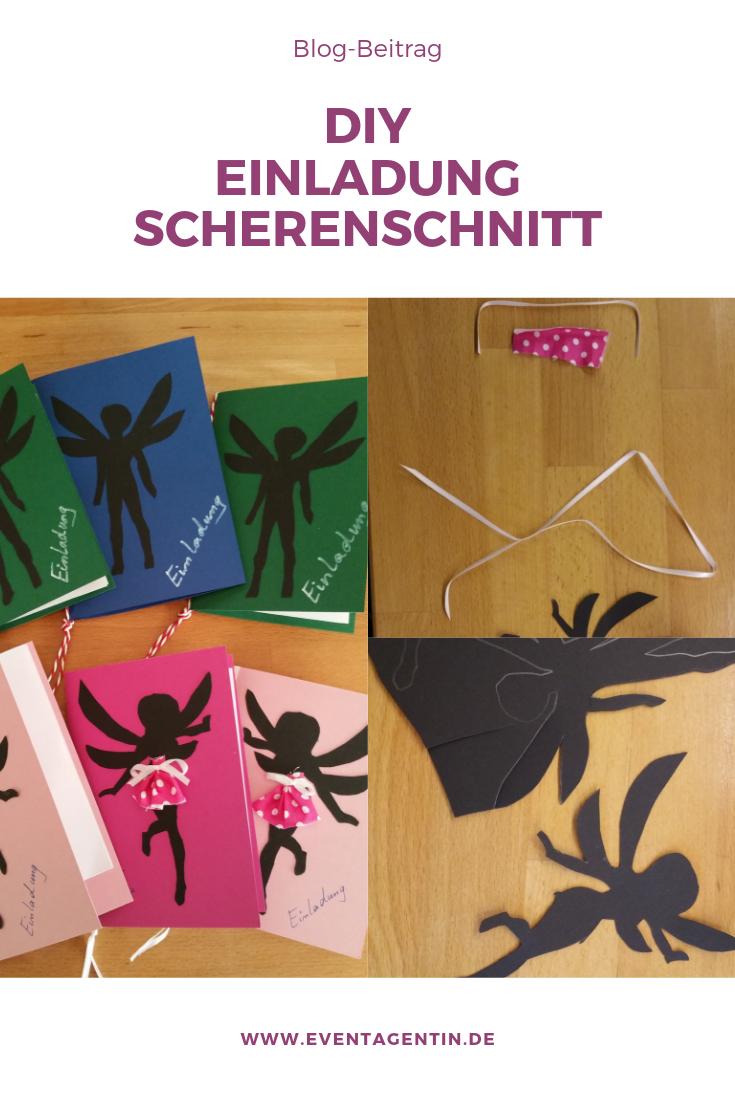 DIY Einladung Party Scherenschnitt Blog Beitrag Anleitung