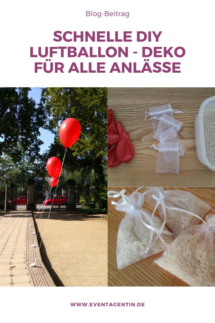Dekoidee zu allen Anlässen mit Luftballons