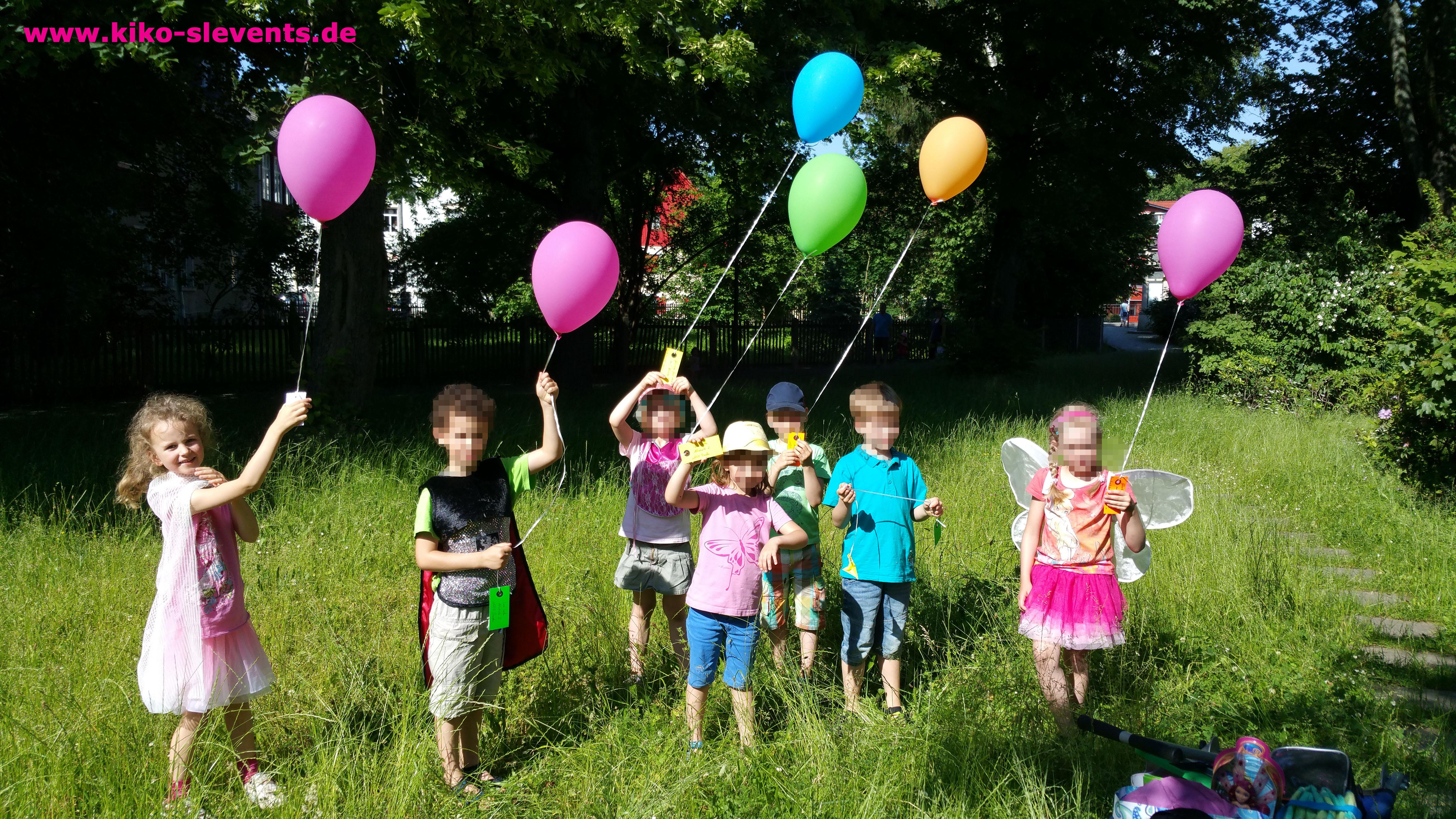 Kindergeburtstag Kinder Luftballons